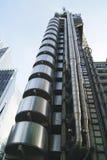 Lift shaft. lift. exterior. façade. stainless steel lift Stock Image