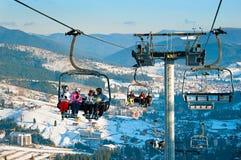 Lift at Ski resort Royalty Free Stock Image