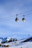 The lift in the ski resort of Courchevel, Alps Royalty Free Stock Photos