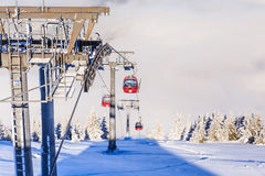 The lift in the ski resort of Soll, Tyrol Royalty Free Stock Photography