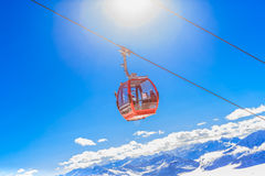The lift in the ski resort of Soll, Tyrol Stock Photos