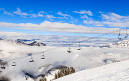 The lift in the ski resort of Soll, Tyrol Stock Photo
