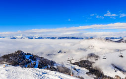 The lift in the ski resort of Soll, Tyrol Royalty Free Stock Photos