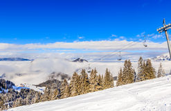 The lift in the ski resort of Soll, Tyrol Royalty Free Stock Photo