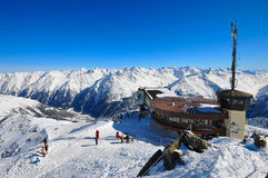 Lift station. First station of the ski chairlift in Soelden Stock Photography