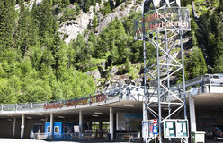 Lift station in Carinthian Flattach, Austria Stock Photography