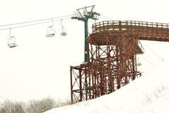 Lift station for slalom Stock Photos