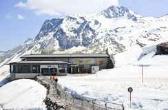 Lift station to go to the Hintertux Glacier in Aus Stock Image