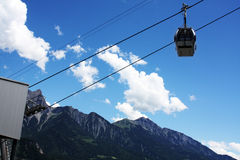 Lift in swiss mountains Alps Stock Photo
