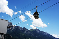 Lift in swiss mountains Alps Royalty Free Stock Image