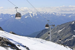 Lift to the Molltaler Glacier, Carinthia, Austria Royalty Free Stock Image