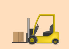 Lift truck with box Stock Photo