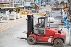 Lift truck for loading aluminum. Small lift truck for loading aluminum Stock Image