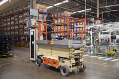 Lift truck service in factory Stock Photography