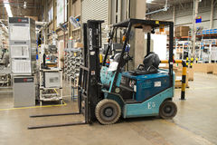 Lift truck service in factory Stock Images