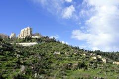 Lifta在耶路撒冷附近的村庄废墟 免版税库存照片