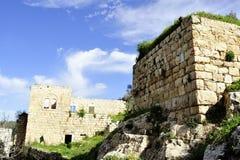 Lifta村庄老废墟  免版税库存图片