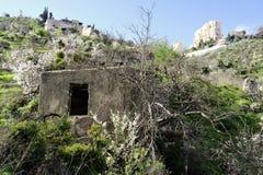 Lifta村庄老废墟  库存图片