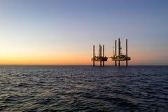 Liftboats op zee Stock Afbeelding