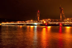 liftbridge nighttime Zdjęcia Stock