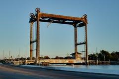 Liftbrug bij Gouden Weide, Louisiane Stock Afbeeldingen
