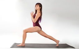 Lifted Lunge Pose Royalty Free Stock Image
