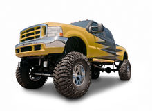 Lifted Truck royalty free stock photos