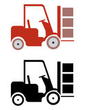 Lifter icons Royalty Free Stock Images