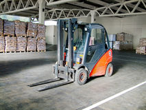 Lifter in warehouse Stock Photography