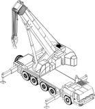 Liftind crane Royalty Free Stock Photography