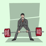 Lifting bad debt illustration Stock Image