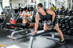 Lifting barbell Stock Photography