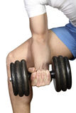 Lifting big dumbbells Stock Image