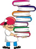 Lifting books Stock Photography