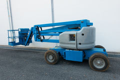 Lifting boom lift in construction site. Royalty Free Stock Photo