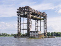 Lifting bridge at Karnin, Germany Stock Images