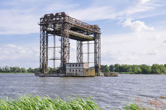 Lifting bridge in Karnin, Germany Stock Photos