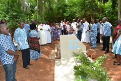 LIFTING AND BURIAL OF THE MOTHER OF ACTING CHAIRMAN OF THE POPULAR FRONT IVOIRIAN, PARTY OF PRESIDENT LAURENT GBAGBO Stock Image