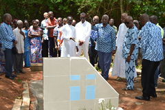LIFTING AND BURIAL OF THE MOTHER OF ACTING CHAIRMAN OF THE POPULAR FRONT IVOIRIAN, PARTY OF PRESIDENT LAURENT GBAGBO Stock Images