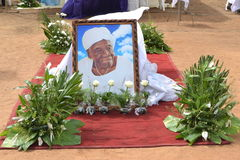 LIFTING AND BURIAL OF THE MOTHER OF ACTING CHAIRMAN OF THE POPULAR FRONT IVOIRIAN, PARTY OF PRESIDENT LAURENT GBAGBO Stock Photo