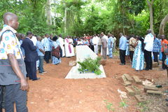 LIFTING AND BURIAL OF THE MOTHER OF ACTING CHAIRMAN OF THE POPULAR FRONT IVOIRIAN, PARTY OF PRESIDENT LAURENT GBAGBO Royalty Free Stock Image