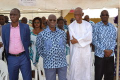 LIFTING AND BURIAL OF THE MOTHER OF ACTING CHAIRMAN OF THE POPULAR FRONT IVOIRIAN, PARTY OF PRESIDENT LAURENT GBAGBO Stock Photos