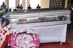 Lifting and burial of the mother of the former president of the Ivory Coast, Laurent Gbagbo Stock Photos