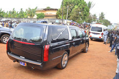 Lifting and burial of the mother of the former president of the Ivory Coast, Laurent Gbagbo Royalty Free Stock Photo