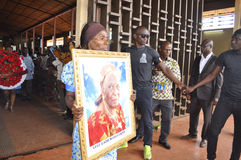 Lifting and burial of the mother of the former president of the Ivory Coast, Laurent Gbagbo Royalty Free Stock Photography