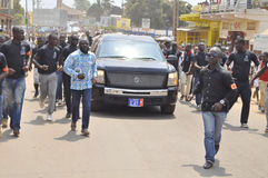Lifting and burial of the mother of the former president of the Ivory Coast, Laurent Gbagbo Stock Image