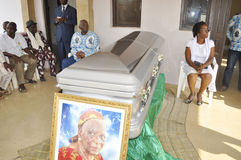 Lifting and burial of the mother of the former president of the Ivory Coast, Laurent Gbagbo Stock Images