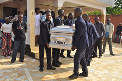 Lifting and burial of the mother of the former president of the Ivory Coast, Laurent Gbagbo Royalty Free Stock Image