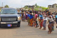 Lifting and burial of the mother of the former president of the Ivory Coast, Laurent Gbagbo Stock Photo