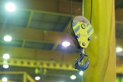 Lifting crane. close-up lifting hook. royalty free stock images